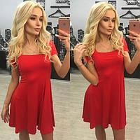 Летнее клешёное платье в разных расцветках k-6131450