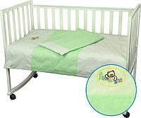 Детский комплект постельного белья для кроватки 60Х120  Я Немовля салатовий (932.01Б)