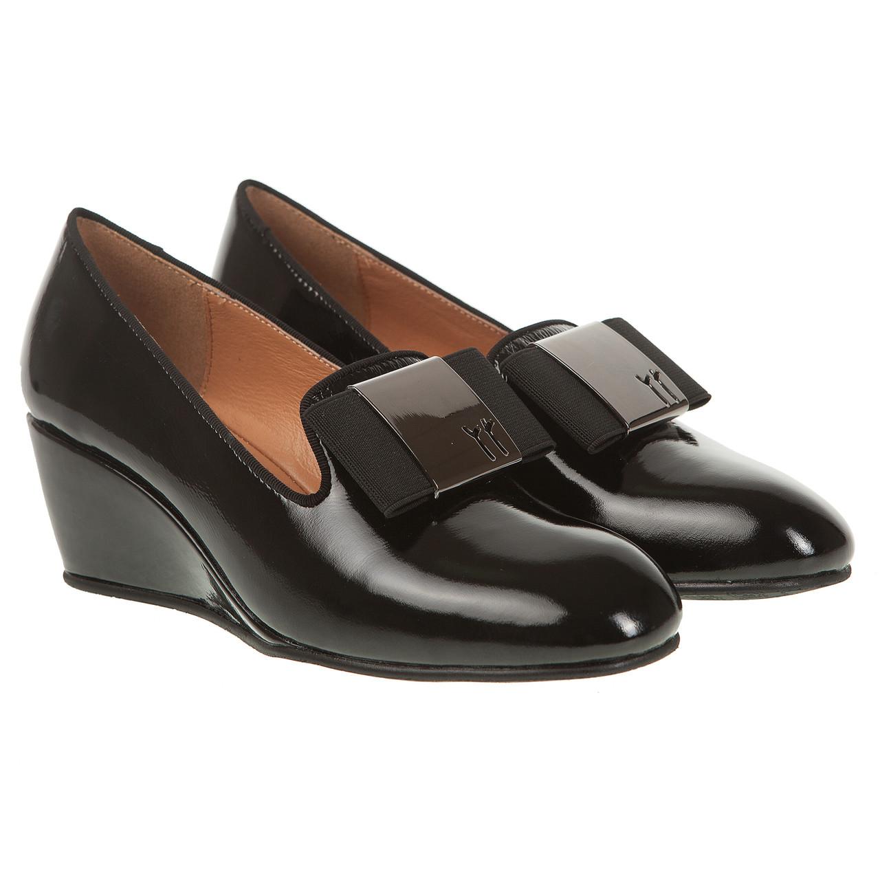 45e87b23d Туфли лоферы женские Deenoor (черные, на удобной танкетке, качественные,  комфортные)