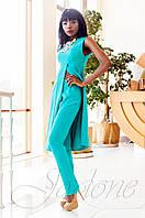 Нарядный женский бирюзовый костюм Меркс Jadone Fashion 42-50 размеры