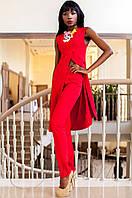 Нарядный женский красный костюм Меркс Jadone Fashion 42-50 размеры