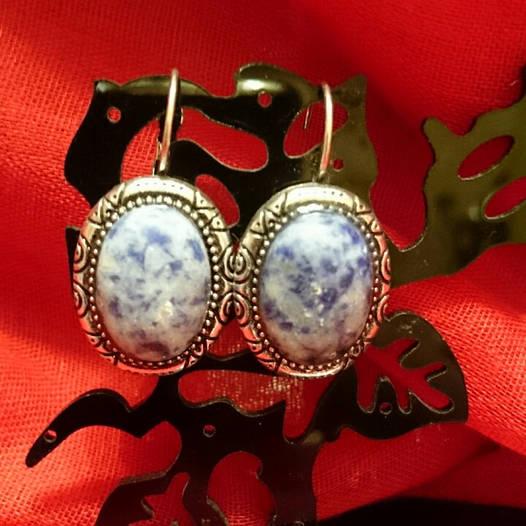 Сережки с  камнем Лазурит