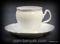 Bernadotte (Обводка платина) Чайный сервиз на 6 персон 17 предметов 240мл фарфор Thun