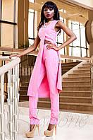Нарядный женский розовый костюм Меркс Jadone Fashion 42-50 размеры