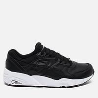 Мужские кроссовки Puma R698 Core Leather Black, фото 1