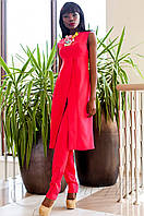 Нарядный женский малиновый костюм Меркс Jadone Fashion 42-50 размеры