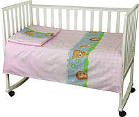 Детский комплект постельного белья для кроватки бязь 60Х120  ёжик (932.02_ їжачок)