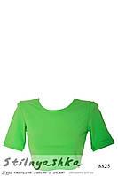 Спортивный топ-футболка зеленый