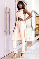 Нарядный женский персиковый костюм Меркс Jadone Fashion 42-50 размеры