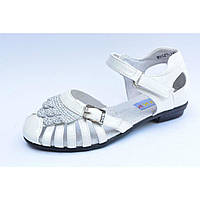 Школьные летние туфли для девочек внутри полностью нат. кожа р.31,32,33,34,35,36 стелька ортопедическая, белые