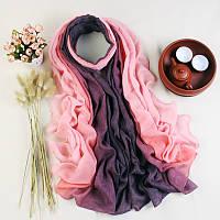 Модный женский легкий  весенний шарф розового оттенка