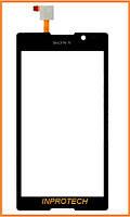 Сенсор (тачскрин) Sony C2304, C2305, S39h Xperia C Black Original