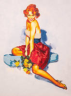 Набор для вышивания бисером  Девушка с розами
