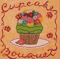 Набор для вышивания бисером  Зеленое пирожное