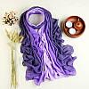 Модный женский легкий весенний шарф фиолетового оттенка