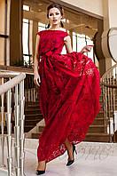 Вечернее женское красное платье в пол Бритни Jadone Fashion 42-50 размеры
