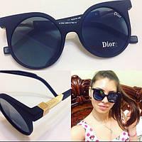 Модные круглые женские солнцезащитные очки в матовой оправе k-4316229