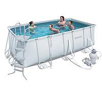 Каркасный бассейн Bestway 56457/56244 с песочным фильтром 2006 л/час (412х201х122)