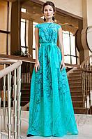 Вечернее женское бирюзовое платье в пол Бритни Jadone Fashion 42-50 размеры
