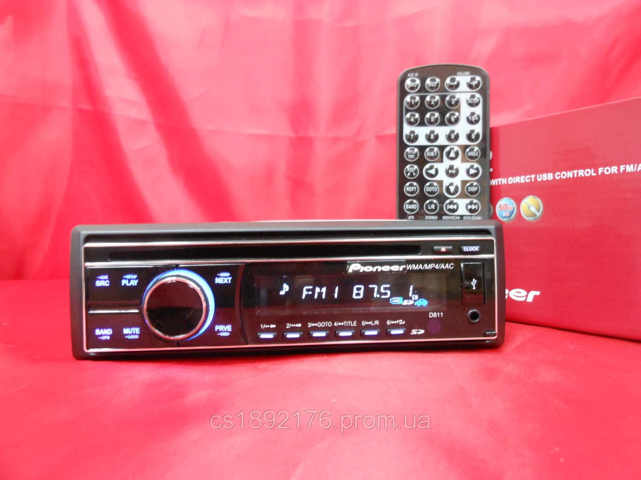 DVD Pioneer D811 USB+Sd+MMC+MP3+MP4+Avi