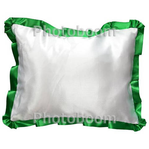 Наволочка для сублимации, прямоугольная с зеленой каймой