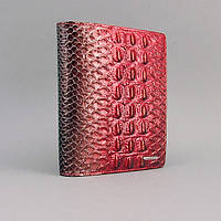 Визитница кожаная женская красная Lison Kaoberg 47568a