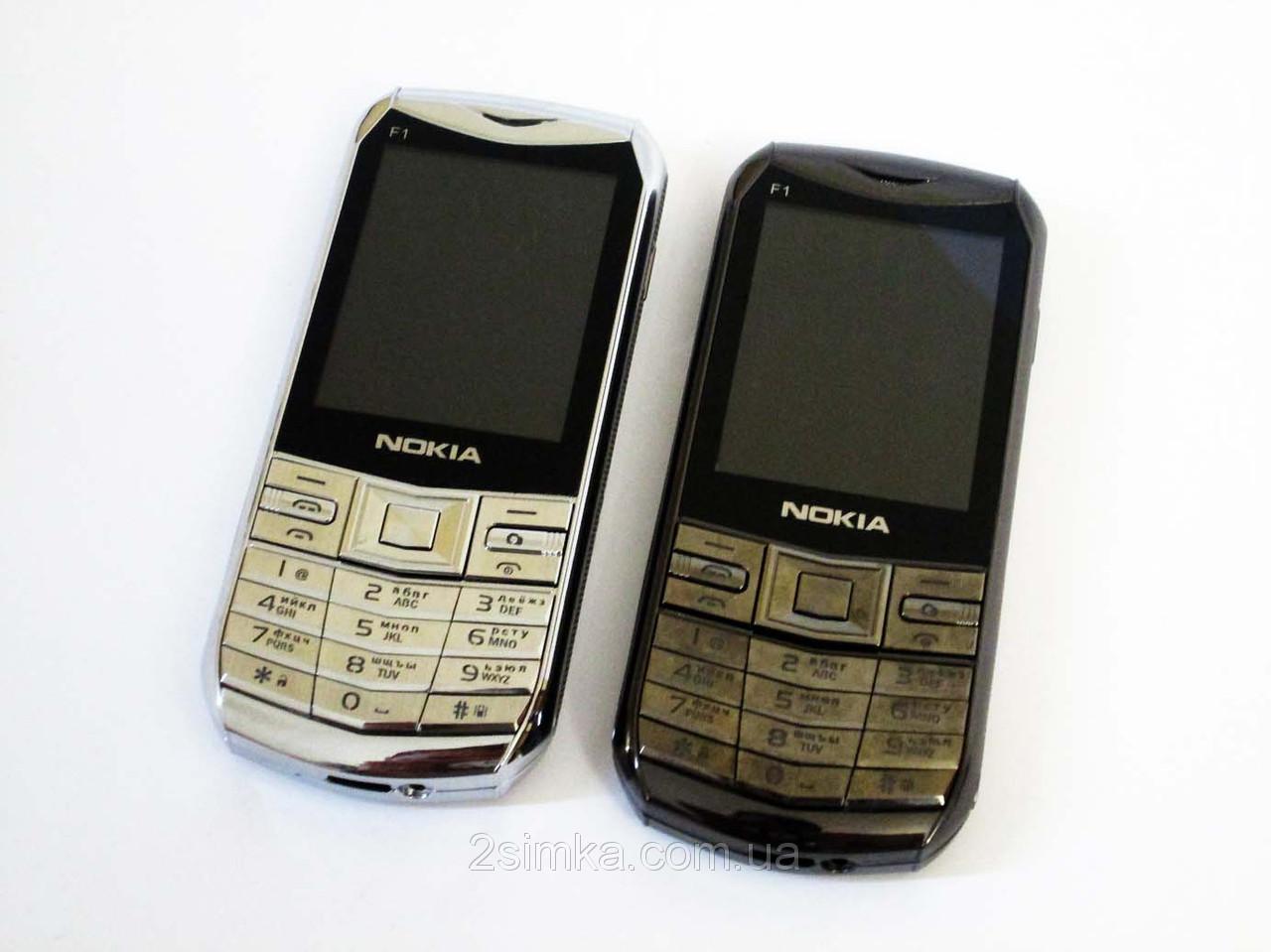 """Телефон Nokia F1 - 2,4""""+BT+Camera+FM - дизайн Vertu"""