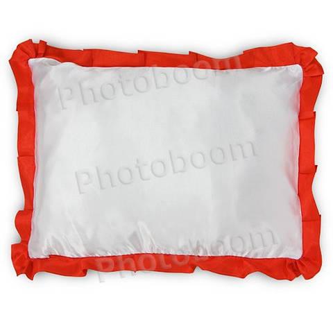 Наволочка для сублимации, прямоугольная с красной каймой