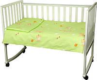 Детский комплект постельного белья для кроватки бязь 60Х120  мишка с шариком  (932.02_ведмедик з кулькою)