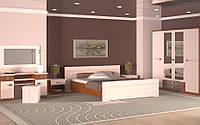 Спальня Лейла четырех, шести дверный шкаф, прикроватные тумбы, комод, зеркало,кровать без матраса