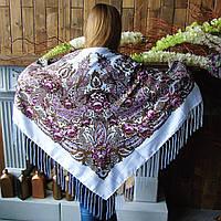 Павлопосадский платок (135х135см + бахрома)