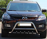 Защита переднего бампера кенгурятник из нержавейки на Mazda CX-7 2006-2013