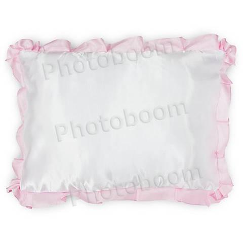 Наволочка для сублимации, прямоугольная с розовой каймой