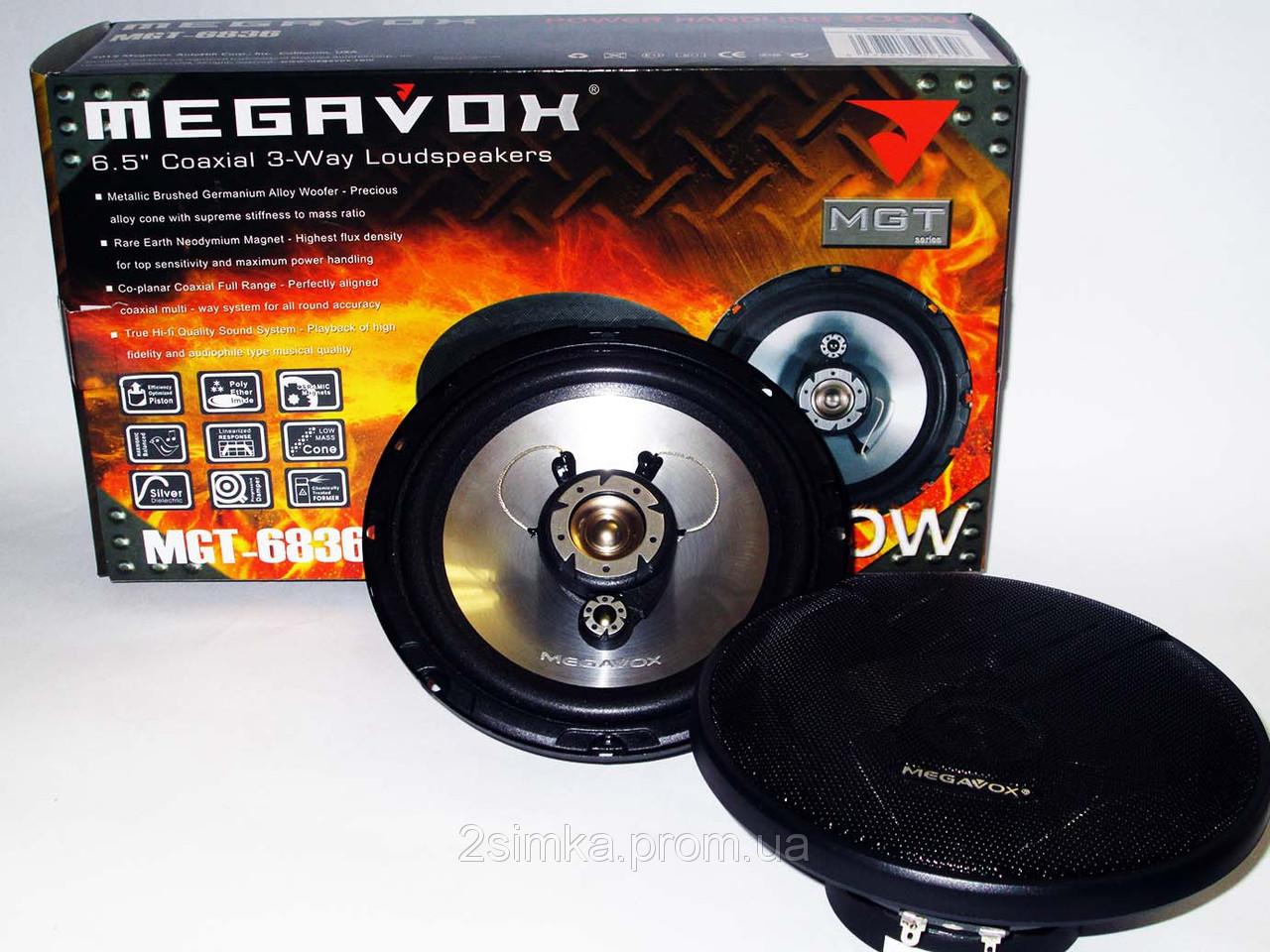 MEGAVOX MGT-6836 (300W) трехполосные