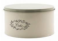 Металлическая емкость для  хранения кексов, тортов, выпечки (13х25 см.)