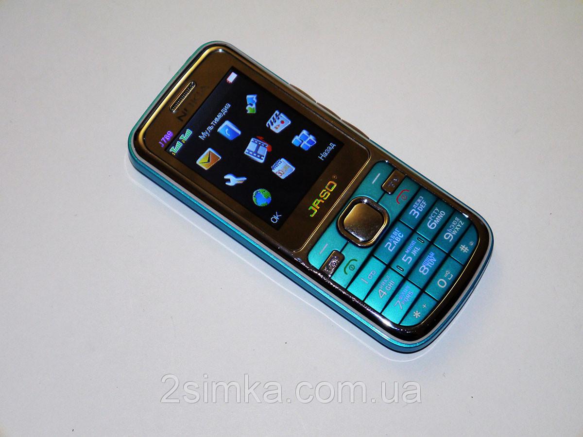 """Телефон Nokia J789 - 2sim - 2,2"""" - Fm - Bt - Camera - металлический корпус"""
