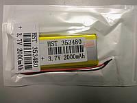 Внутренний Аккумулятор 3,8*34*81  (2000 mAh 3,7V) 353480 AAA класс в Запорожье