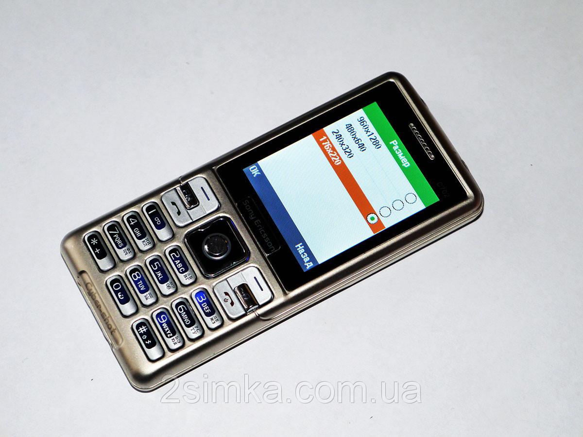 "Телефон Sony Ericsson C702 - 2 sim - 2,4"" - Fm -Bt - Camera - металлический корпус"