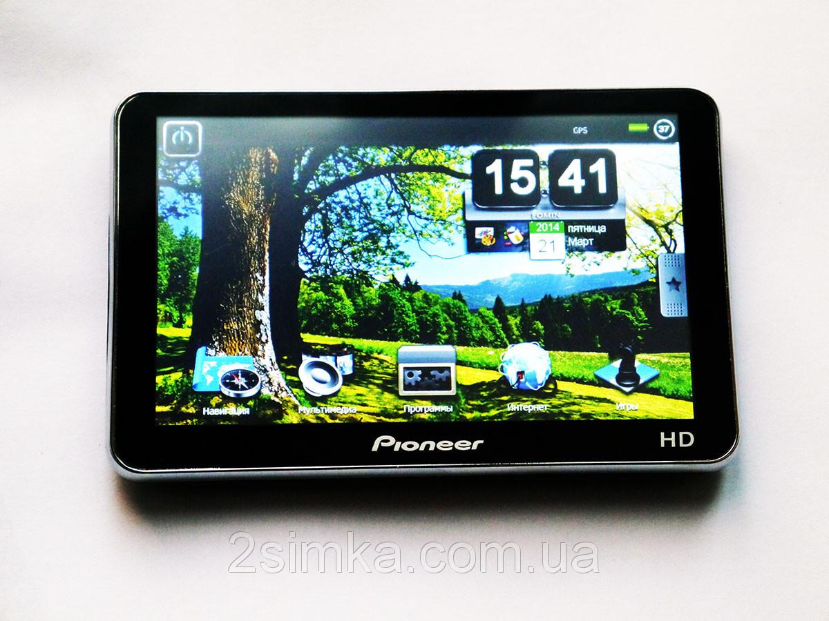 "GPS навигатор 5"" Pioneer HD - 4Gb+Fm"