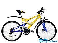 """Горный двухподвесный велосипед Azimut Rock 24"""" D"""