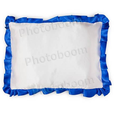 Наволочка для сублимации, прямоугольная с синей каймой
