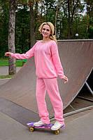 Оригинальный женский костюм спортивного стиля, розового цвета