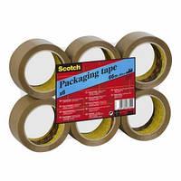 Упаковочная клейкая лента Scotch ® с повышенной клейкостью, 50 мм х 66 м, коричневая
