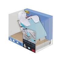 """Диспенсер """"каратист"""" Post-it ® + серо-синие СуперКлейкие Z-стикеры Post-it ® 76 х 76 мм, 90 л."""
