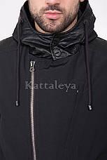 Мужская удлиненная курточка с капюшоном MC-17309 демисезон, фото 2