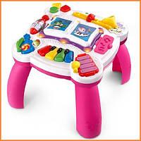 Детский развивающий интерактивный музыкальный столик розовый Groove Leap Frog Pink