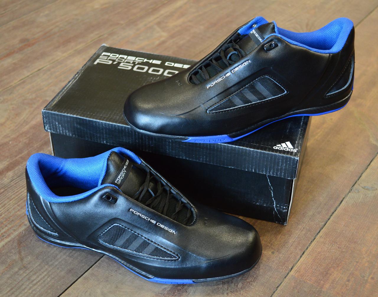 4d2287b6 ... Черные мужские кроссовки Adidas Porsche Design Drive Athletic II Leather  Black Blue Trainers , фото 7 ...