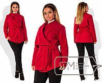 Модное женское пальто в больших размерах m-2025771
