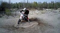 Пробное занятие на мотоцикле pit bike.