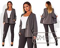 Женский стильных костюм в больших размерах f-2025785